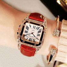Женские часы, современная мода, Женские кварцевые наручные часы, студенческий кожаный браслет, роскошные часы(Китай)