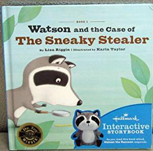 Hallmark Interactive Book - Watson and the Case of The Sneaky Stealer Book #1