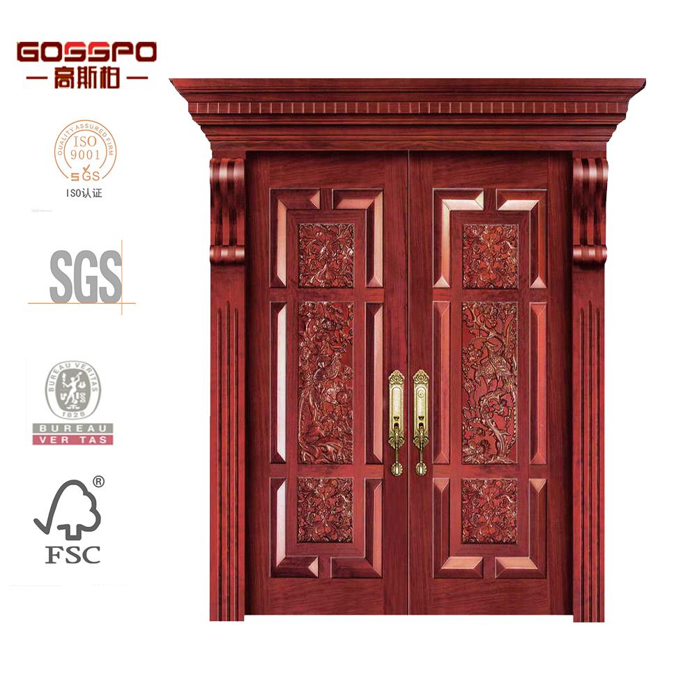 madera de la puerta principal diseo tallado doble puerta interior puerta de entrada frontal