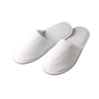 Yangzhou factory direct supplies Cheap white wholesale customized terry towel disposable bathroom spa EVA hotel slipper