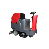 high efficient floor cleaning machine dual brushes riding floor scrubber dryer