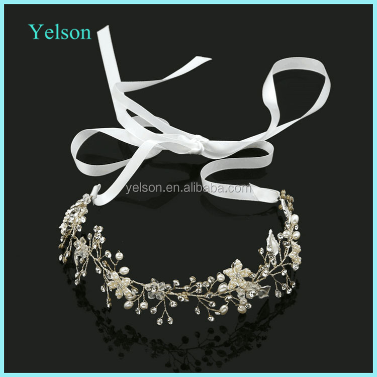 Yelson Wedding Crystal Tiara Rhinestone Bridal Hairband for Brides