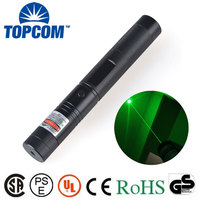 handheld 532nm 50mw burning focusable green laser point with key for sale