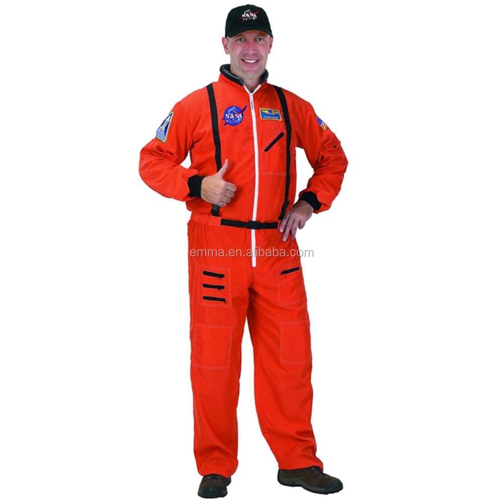 Mens Spaceman NASA Astronaut Space Suit Adults Halloween Fancy Dress Costume BMG14575