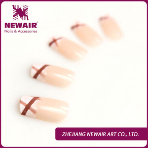 Simple classic never fade different types of french ABS material nails arts tips