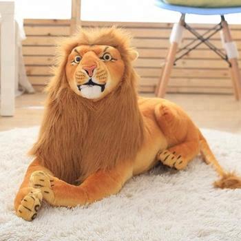 Ce Certification Soft Lifelike Animal Stuffed Large Lion Plush Toy