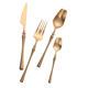 wedding spoon knife fork rose gold plated cutlery, stainless steel flatware set