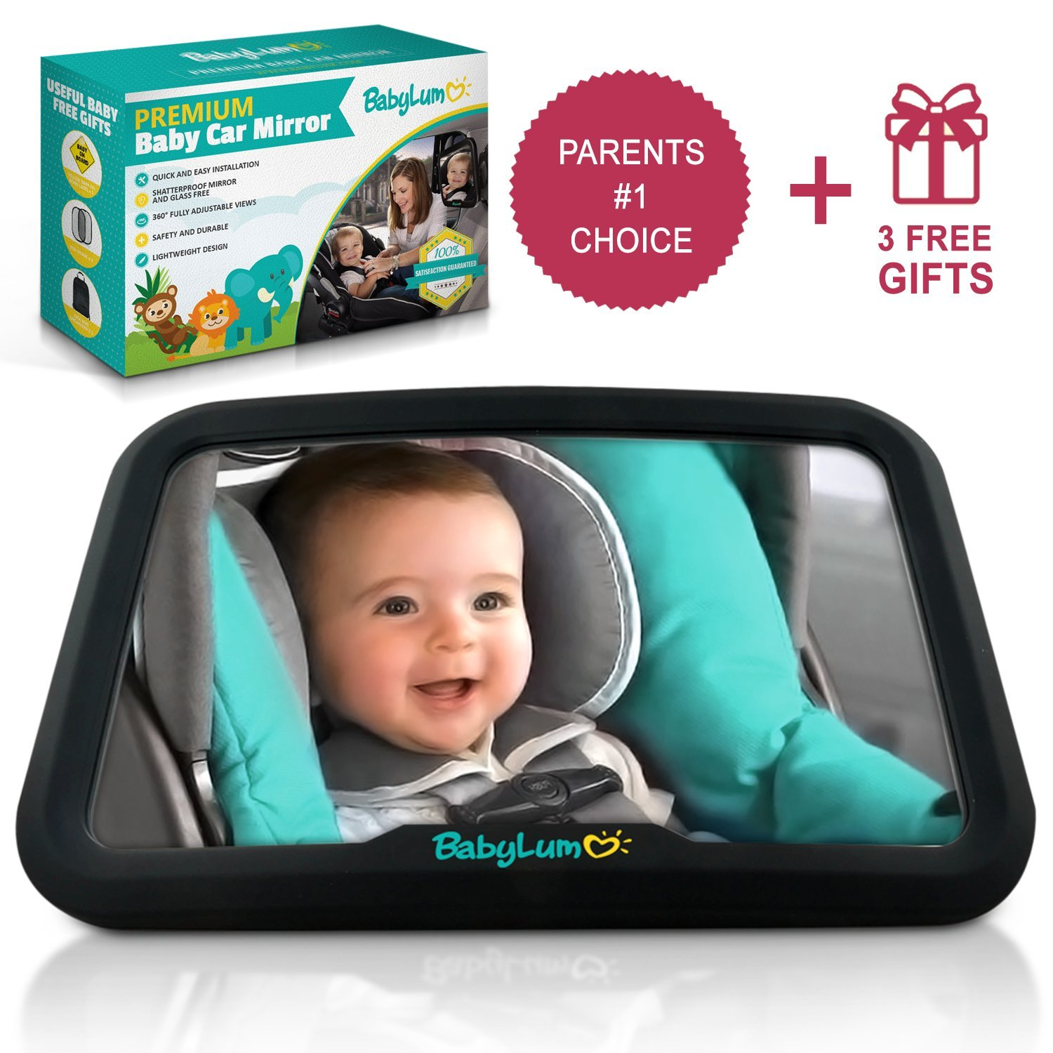 New Extra Large Baby Child Safety Wide View Rear Seat Mirror Clip On Baby Baby Safety & Health