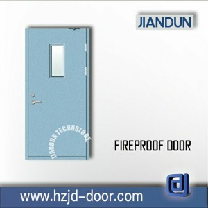 fire rated steel glass door