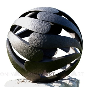 Customized Famous Metal Garden Art Furniture Bronze Ball statue for decor