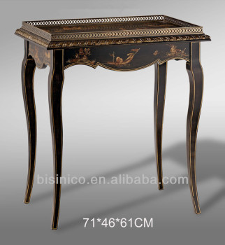 Antique Hand Painted Console Hall Table, Exquisite Wood Carved Table,Home  Decorative Furniture