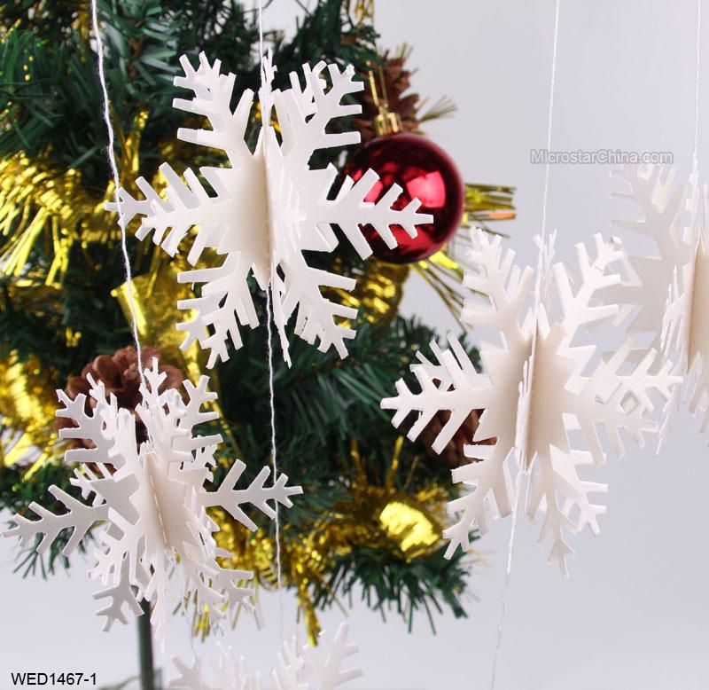Manufacturer hanging snowflake decorations hanging for 3d hanging snowflake decoration