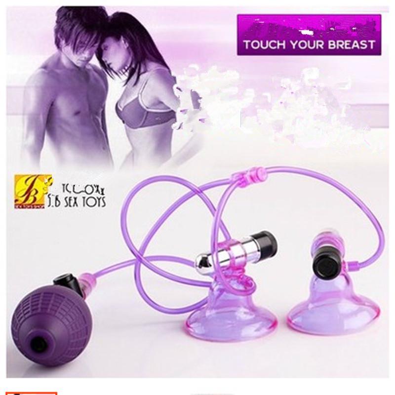Female vibration electric shock stretching breast enlargement breast nipple pump фото