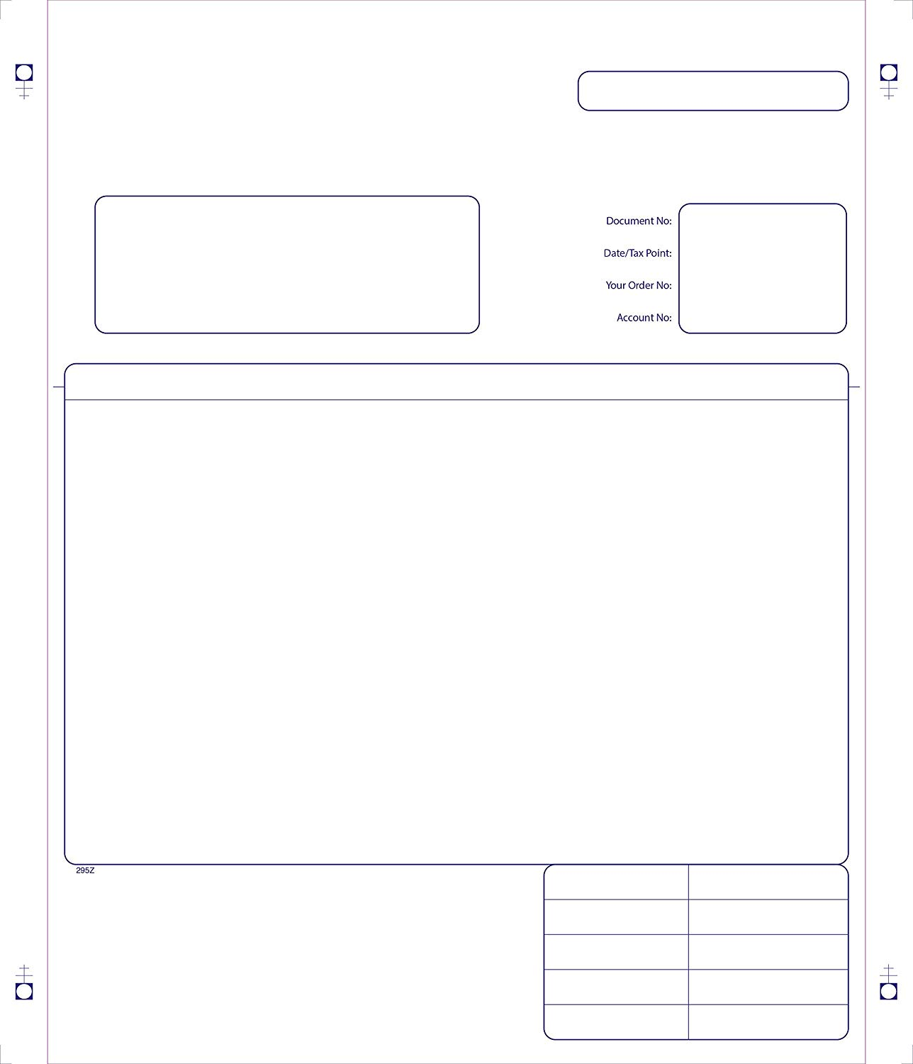 Sage 210 x 297 mm Compatible Business Forms, Invoice Forms, 2 Part, Continuous, Box of 1000