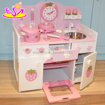 Wooden Kids Kitchen Toys Play Set For Children,High Quality Wooden Toy  Strawberry Kitchen For