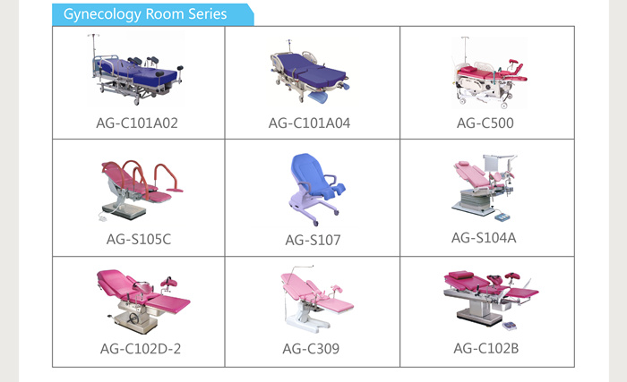 Custom hospital obstetric examination room series medical products delivery bed manual supplier price