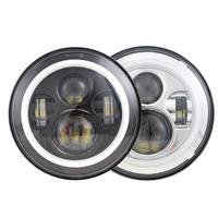 HOT led head light SAE DOT ECE 7 inch led round angel eyes head light for jeep