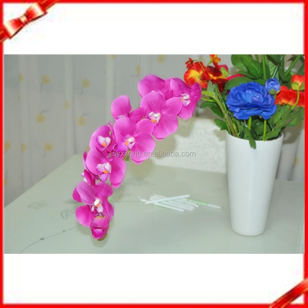 Kunstbloem hot roze vlinder orchidee voor tafel centerpieces decoratieve bloemen kransen - Tafel roze kind ...