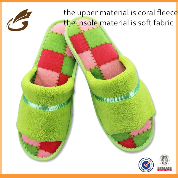 China soft coral fleece woman import slipper bedroom slippers