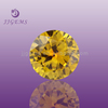 21# synthetic round gemstone yellow sapphire