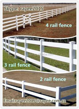 Pvc Horse Rail Fence Black Horse Fencing Post Rail Korea