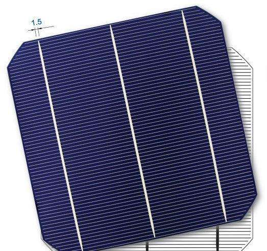 2017 High Efficiency A grade 125mm x125mm mono Solar Cell with competitive price for sale
