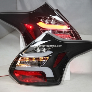 For Ford For Focus LED Strip Tail Lamp For FORD Hatchback 2012 -2014 Year Smoke Black Housing Clear Cover