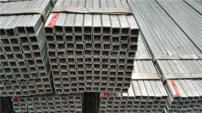 Black square carbon steel tube or pipe with anti-rust oil or black paint