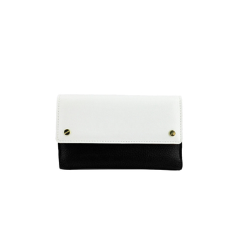 China supplier magnetic close pu leather clutch ladies purse with custom logo