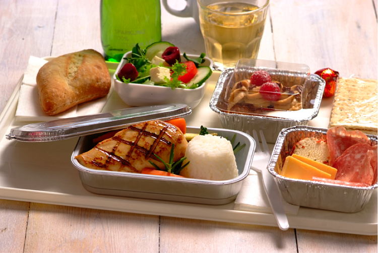 airline aluminum foil food container