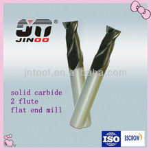 tungsten carbide square end mills 2 flutes for steel HRC 55