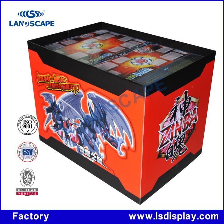 Hot sale customized corrugated cardboard pallet game machine display rack for game store