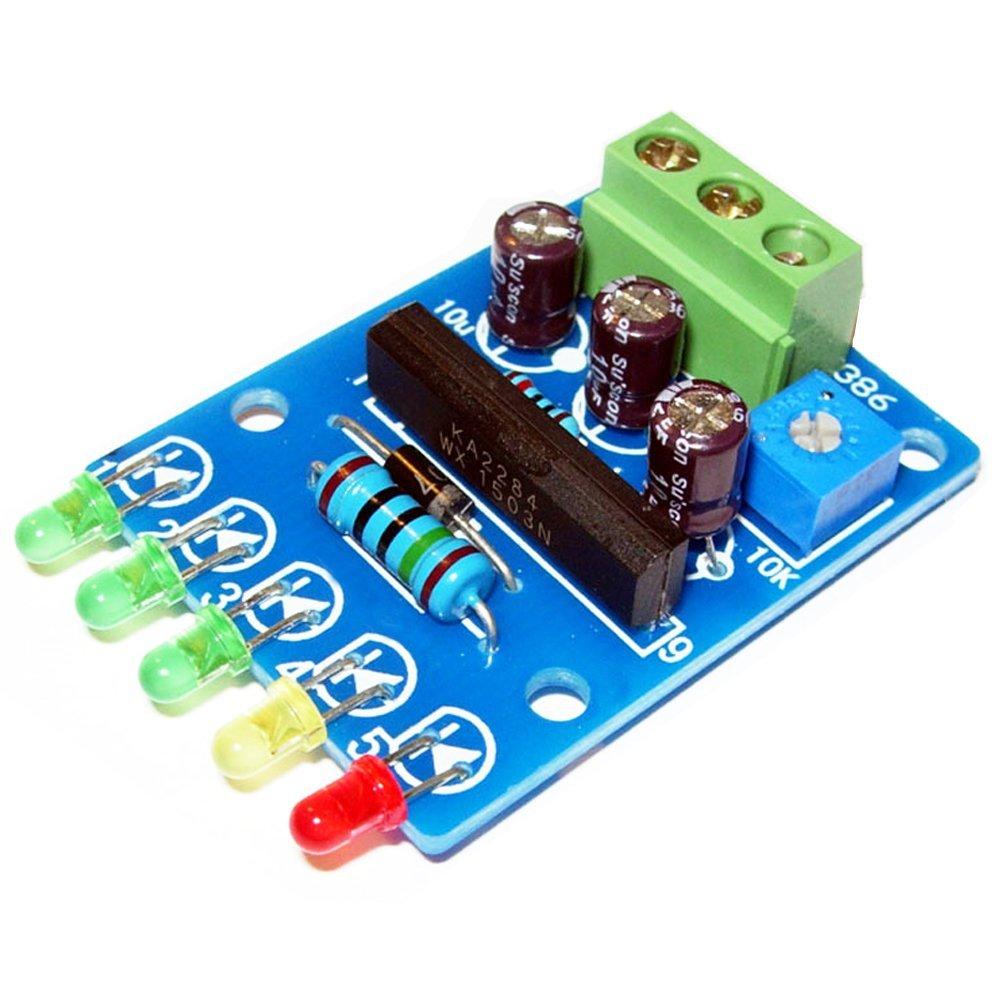 Buy Qianson Lm3915 10 Led Audio Level Indicator Vu Meter Power Bar Dot Circuit Based Dc 5v 12v Driver 5