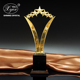 Custom metal trophy cup star shape gold plated Winner Rewards Prizes