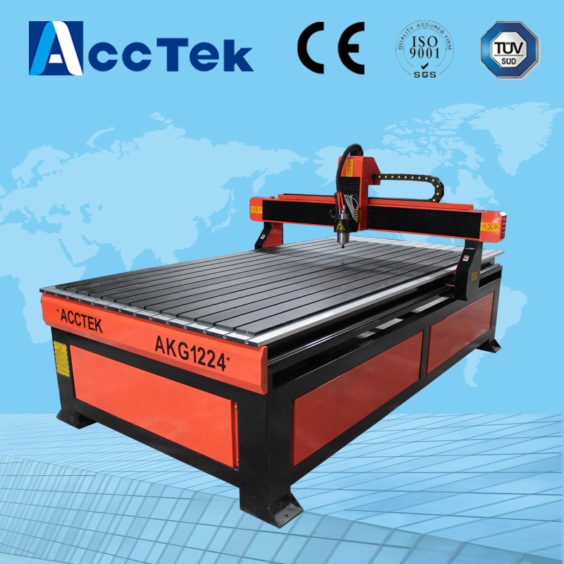 Jinan Acctek 1212 1224 cnc router woodworking machines with USB offline controller