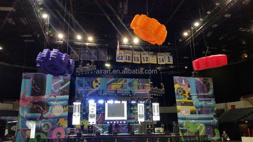 giant Machinery Fair promotional products inflatable toothed gear