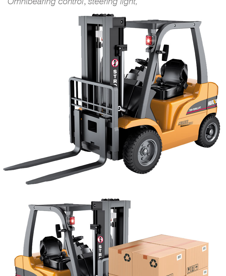 HUINA 1577 577 1:10 8Ch remote control truck toy battery radio controlled forklift for kids