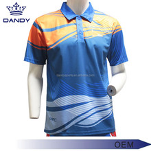 2017 new style 100%polyester polo t-shirt custom sublimation polo t shirt men's golf polo shirt