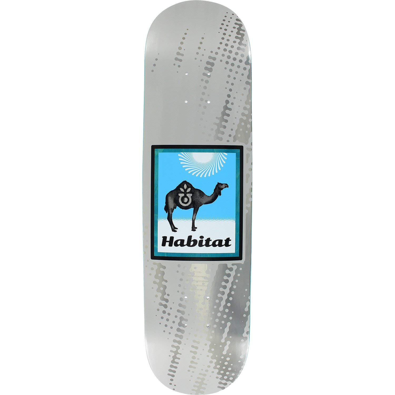 "Habitat Skateboards Camel Logo White/Silver Skateboard Deck Small - 8.12"" x 31.38"""