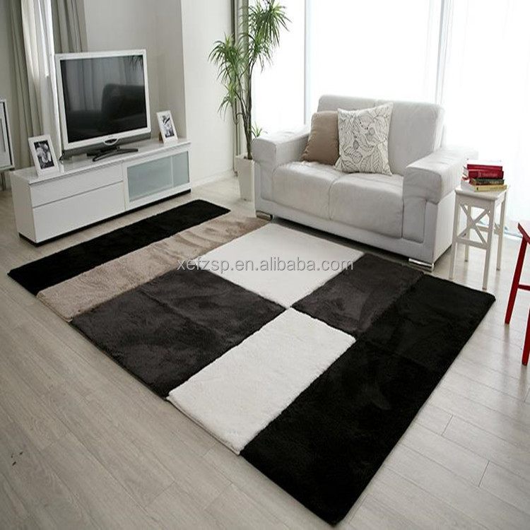 Luxury Polyester Plush Rugs For Living Room Carpet Modern