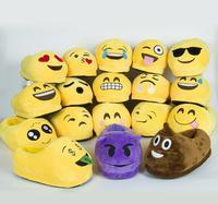Shoes001 Men Women Kids Emoji Plush Stuffed Unisex Slipper Winter Home Indoor Shoes