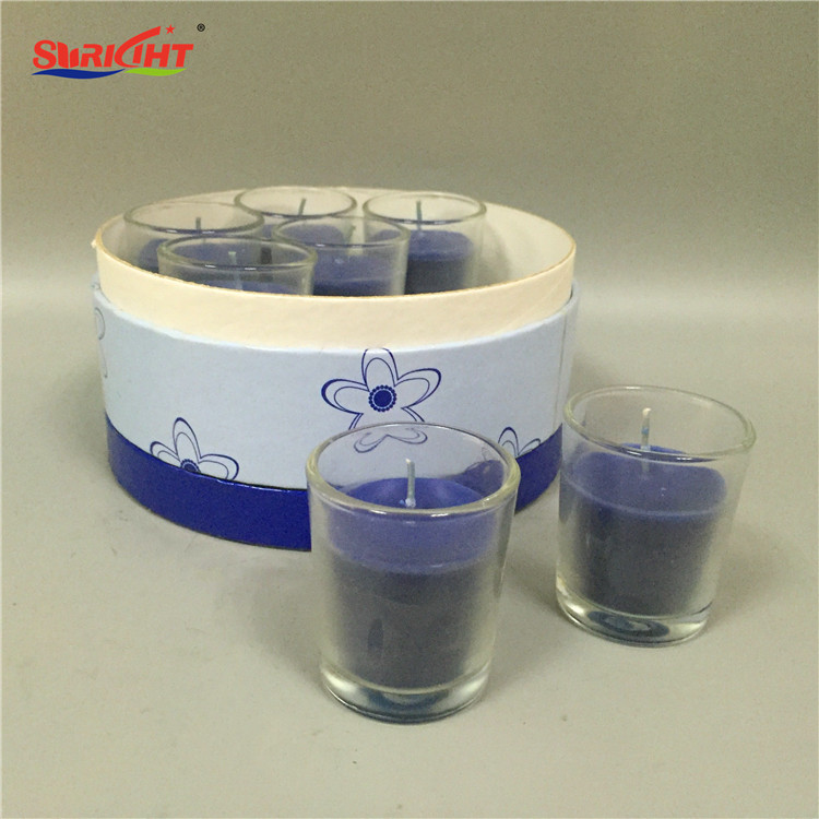 Set of 7 Glass Holder Classical Candle as Corporate Gift Set