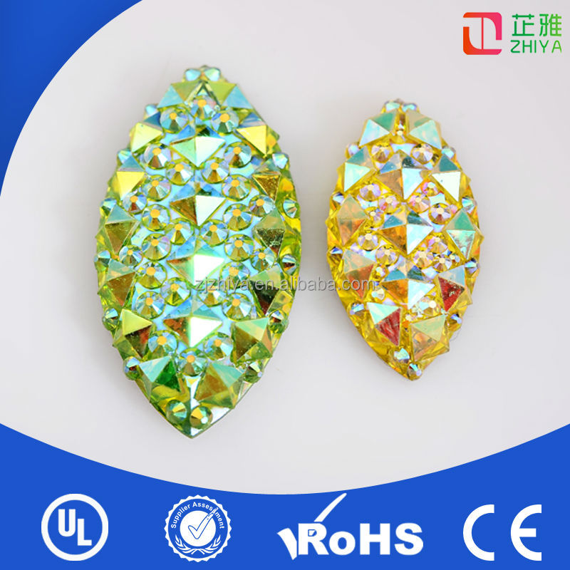 2014wholesale factory price flat back acrylic rhinestone gem