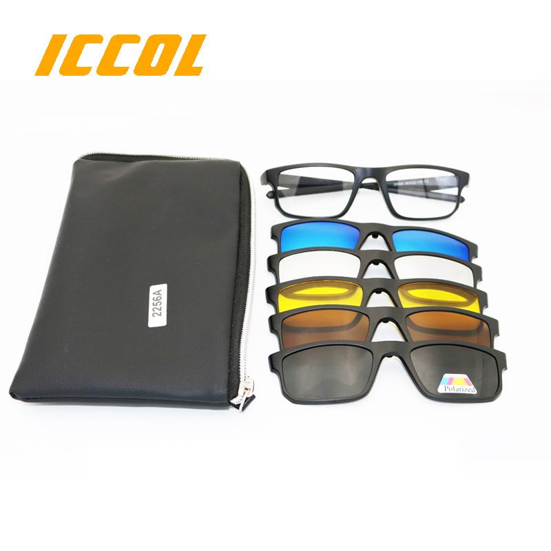 f4e06d9252738 5 em 1 magnética TR90 uv400 polarizada clip sobre óculos polarizados óculos  de sol do esporte