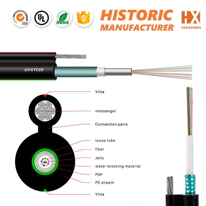 GYXTC8S armored 6 core optical fiber cable for New Caledonia/Netherlands Antilles/ North Korea/ Niger/ Northern Mariana Market