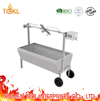 2018 88 Lbs Rotisserie Grill Bearing Lamb Spit Roaster Machine Electric Trotte