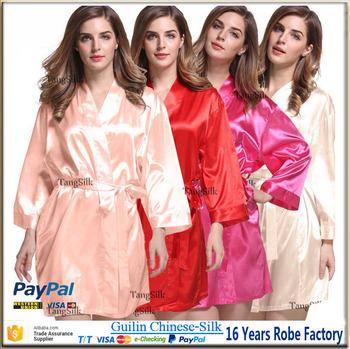 563d8e44f3 Plain White Satin Robe White Silk Robes
