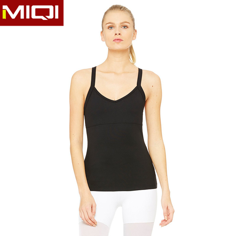 wholesale hot girl sexy stringer tank top women's fitness compression pure tank top for women