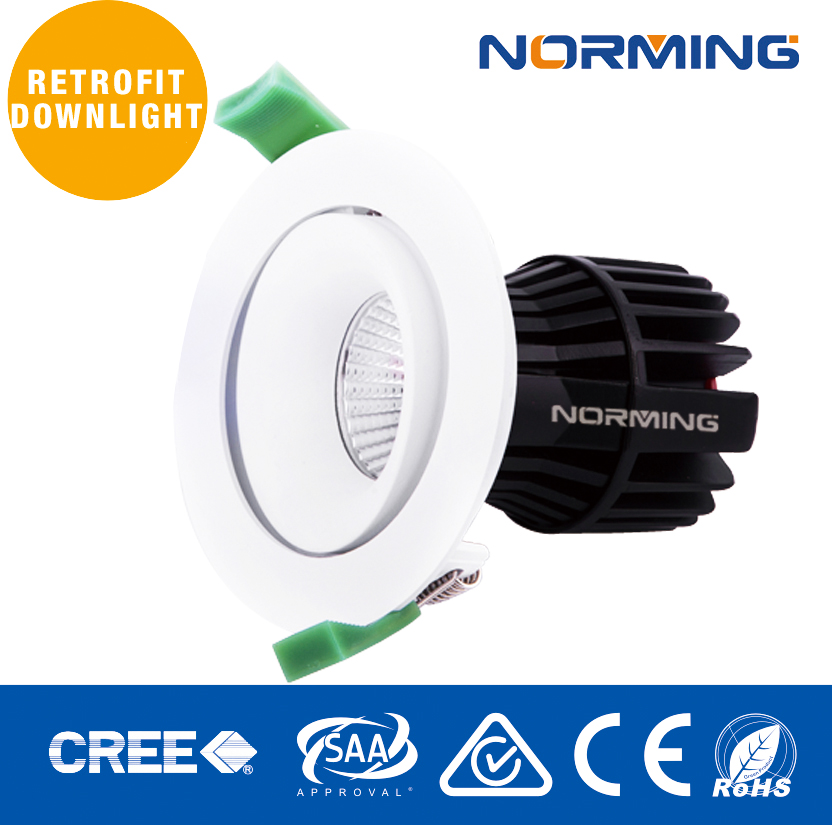 nroming!!TOP SELLING!! Professional Adjustable 17W LED COB 40 watt adjustable downlights led