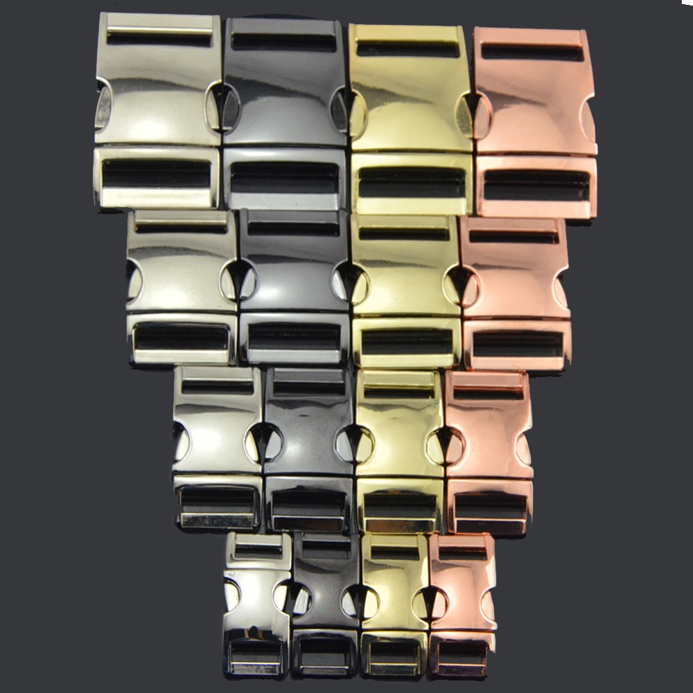Colorful Metal Side Release Buckles as Paracord Accessories